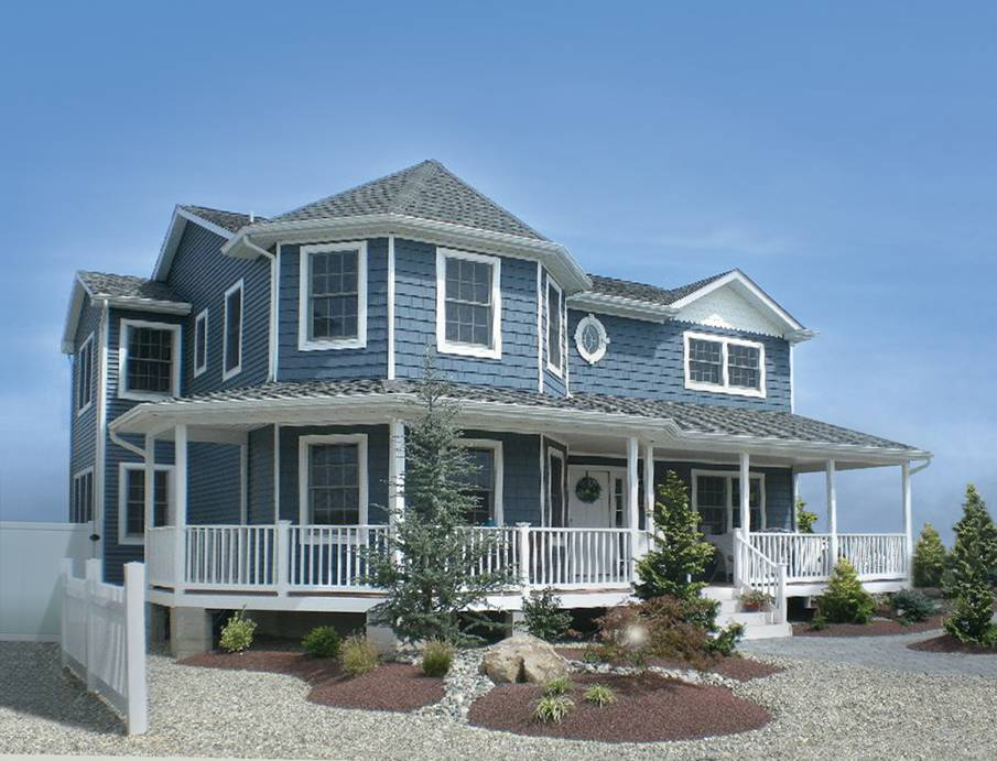 Modular homes gallery aqua marine green lbi for Coastal style house plans